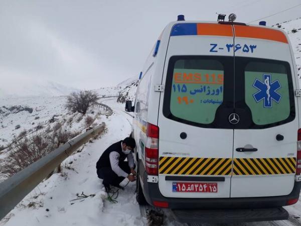 عملیات چهار ساعته اورژانس برای نجات مادر باردار در شهرستان عجبشیر